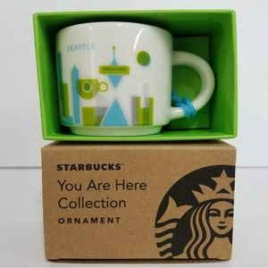 New Starbucks Seattle Coffee Mini Mug Ornament